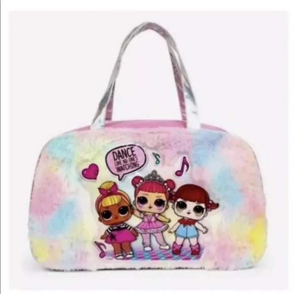 LOL Surprise Other - LOL Surprise Graphic Gir's Fuzzy Duffle Bag